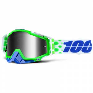 100% Racecraft Alchemy Silver Mirror Lens Motocross Goggles