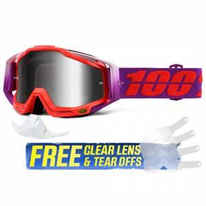 100% Racecraft Watermelon Silver Mirror Lens Goggles