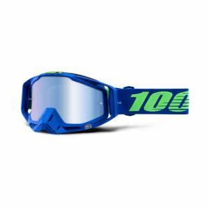 100% Racecraft Dreamflow Blue Mirror Lens Motocross Goggles