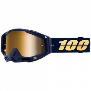 100% Racecraft Bakken True Gold Mirror Lens Motocross Goggles