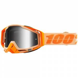 100% Racecraft Sahara Silver Mirror Lens Motocross Goggles