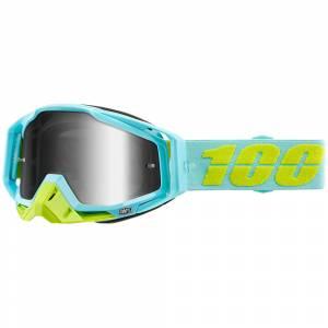 100% Racecraft Pinacles Silver Mirror Lens Motocross Goggles