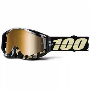 100% Racecraft ErgoFlash Gold Mirror Lens Motocross Goggles