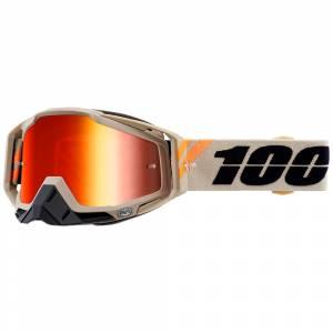 100% Racecraft Poliet Red Mirror Lens Motocross Goggles