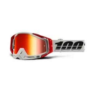 100% Racecraft Suez Red Mirror Lens Motocross Goggles