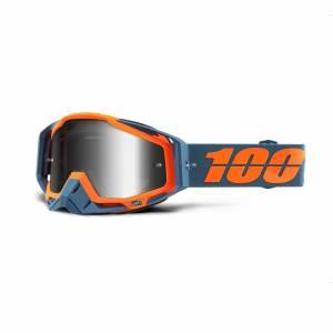 100% Racecraft Kilroy Silver Mirror Lens Motocross Goggles