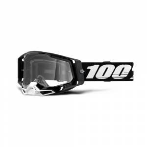 100% Racecraft 2 Black Clear Lens Motocross Goggles