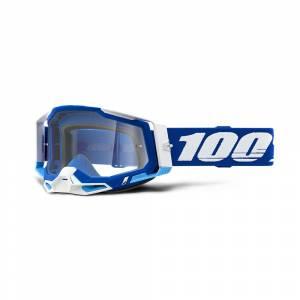 100% Racecraft 2 Blue Clear Lens Motocross Goggles