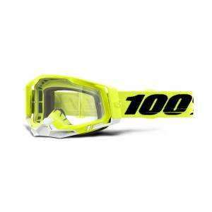 100% Racecraft 2 Yellow Clear Lens Motocross Goggles