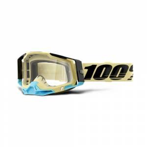 100% Racecraft 2 Airblast Clear Lens Motocross Goggles
