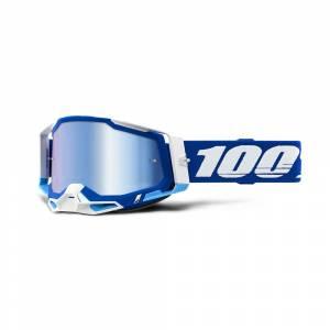 100% Racecraft 2 Blue Blue Mirror Lens Motocross Goggles