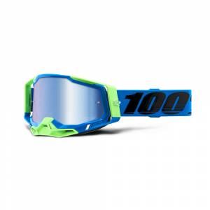 100% Racecraft 2 Fremont Blue Mirror Lens Motocross Goggles