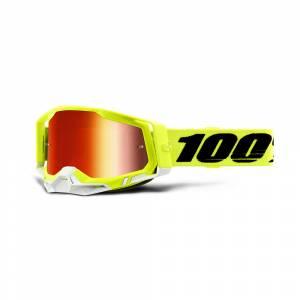 100% Racecraft 2 Yellow Red Mirror Lens Motocross Goggles