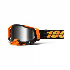 100% Racecraft 2 Costume 2 Silver Mirror Lens Motocross Goggles