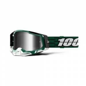 100% Racecraft 2 Milori Silver Mirror Lens Motocross Goggles