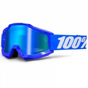 100% Accuri Reflex Blue Blue Mirror Lens Motocross Goggles