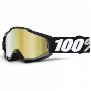 100% Accuri Tornado Gold Mirror Lens Motocross Goggles