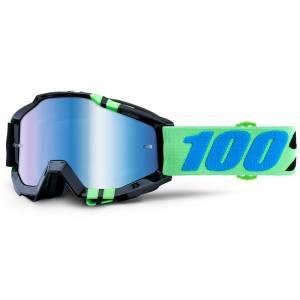 100% Accuri Zerg Blue Mirror Lens Motocross Goggles