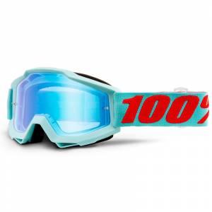 100% Accuri Maldives Blue Mirror Lens Motocross Goggles