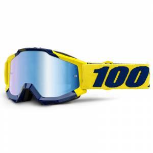 100% Accuri Supply Blue Mirror Lens Motocross Goggles