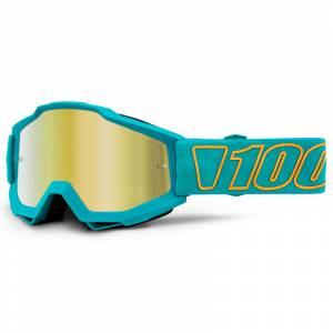 100% Accuri Galak Gold Mirror Lens Motocross Goggles