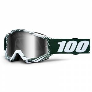 100% Accuri Bali Silver Mirror Lens Motocross Goggles