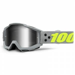 100% Accuri Berlin Silver Mirror Lens Motocross Goggles