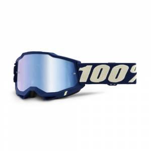 100% Accuri 2 Deepmarine Blue Mirror Lens Motocross Goggles