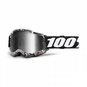 100% Accuri 2 Cobra Silver Mirror Lens Motocross Goggles