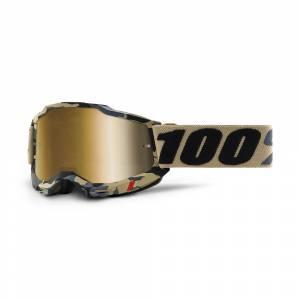 100% Accuri 2 Tarmac True Gold Mirror Lens Motocross Goggles