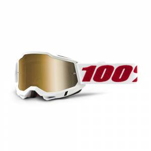 100% Accuri 2 Denver True Gold Mirror Lens Motocross Goggles