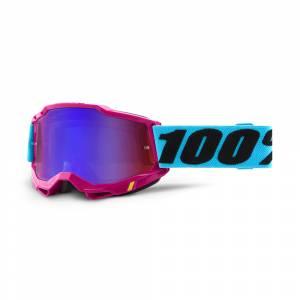 100% Accuri 2 Lefleur Red Blue Mirror Lens Motocross Goggles