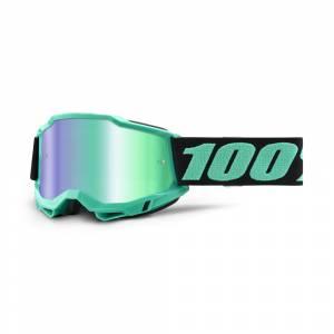 100% Accuri 2 Tokyo Green Mirror Lens Motocross Goggles