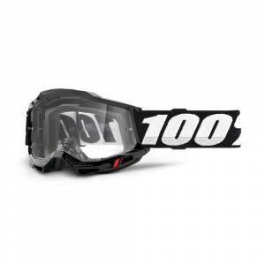 100% Accuri 2 Black Clear Lens OTG Goggles