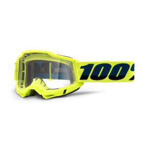 100% Accuri 2 Fluo Yellow Clear Lens OTG Goggles