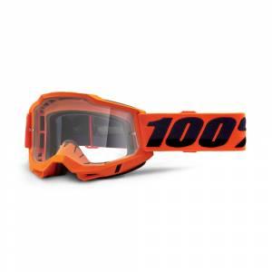 100% Accuri 2 Neon Orange Clear Lens OTG Goggles
