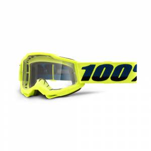 100% Accuri 2 Fluo Yellow Clear Lens Youth Goggles