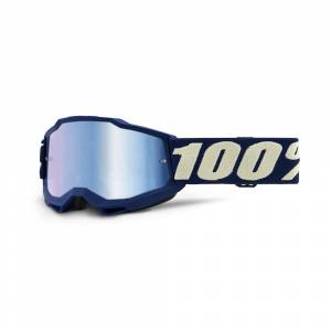 100% Accuri 2 Deepmarine Blue Mirror Lens Youth Goggles