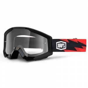 100% Strata Slash Clear Lens Motocross Goggles