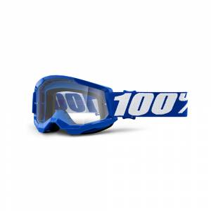 100% Strata 2 Blue Clear Lens Youth Goggles