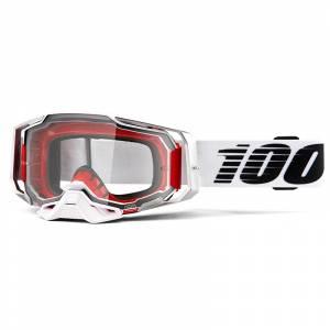 100% Armega Lightsaber Clear Lens Motocross Goggles