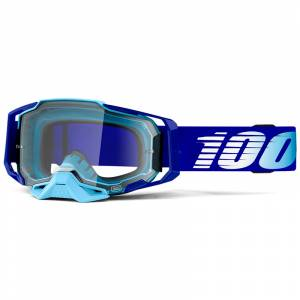 100% Armega Royal Essential Clear Lens Motocross Goggles
