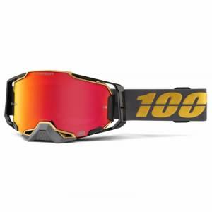 100% Armega Falcon 5 HiPER Red Mirror Lens Motocross Goggles