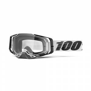 100% Armega Atmos Clear Lens Motocross Goggles