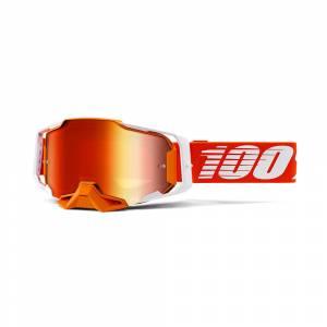 100% Armega Regal Red Mirror Lens Motocross Goggles