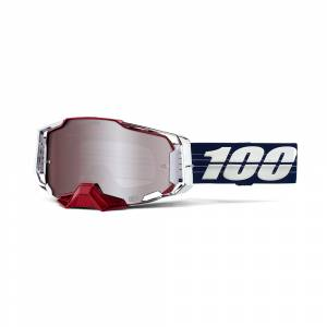 100% Armega Loic Bruni LTD HiPER Silver Mirror Lens Motocross Goggles