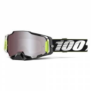 100% Armega Factory HiPer Red Mirror Lens Motocross Goggles