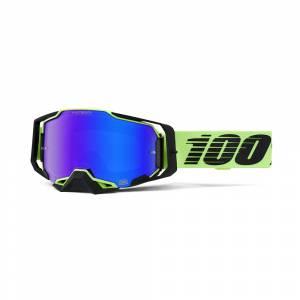 100% Armega Uruma HiPER Blue Mirror Lens Motocross Goggles