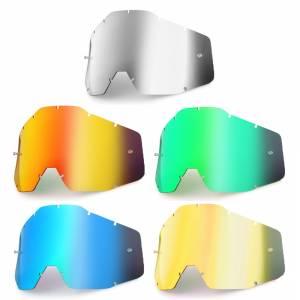 100% Accuri Racecraft Strata Anti-Fog Mirror Replacement Goggle Lens