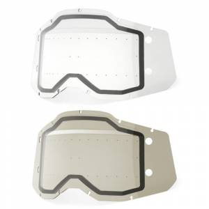 100% Racecraft 2 Accuri 2 Strata 2 Forecast Dual Pane Replacement Goggle Lens With Bumps